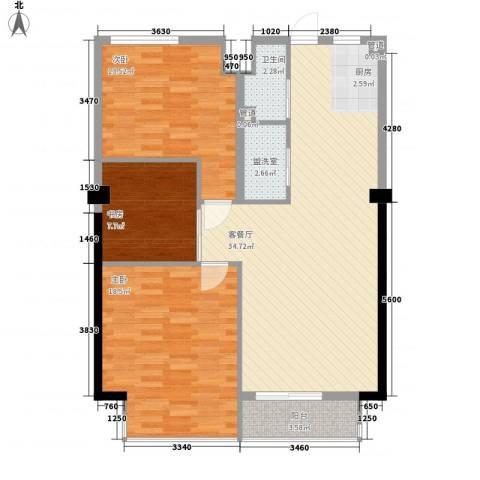 一品江南3室1厅1卫0厨116.00㎡户型图
