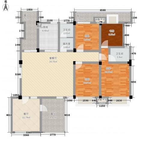 嘉城尚郡4室2厅2卫1厨178.00㎡户型图