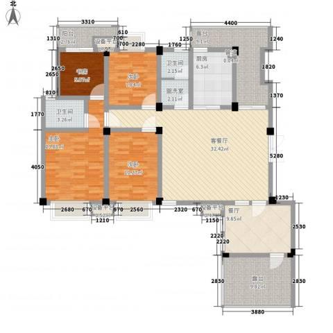 嘉城尚郡4室2厅2卫1厨172.00㎡户型图