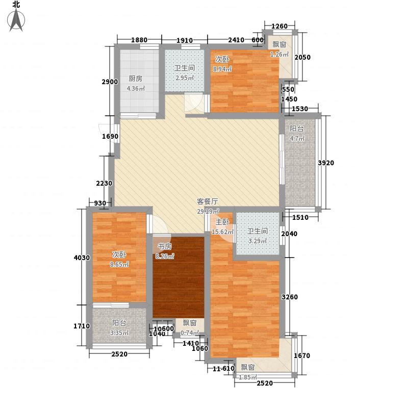 天润城130.00㎡8街区G-C2户型4室2厅2卫1厨