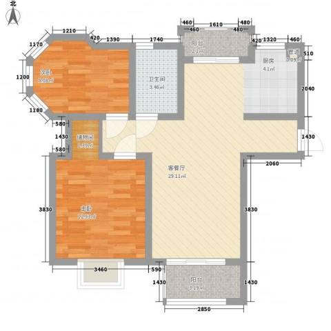 金榈湾2室1厅1卫0厨86.00㎡户型图