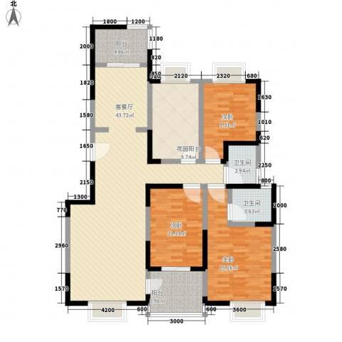 逸景�居3室1厅2卫0厨132.00㎡户型图