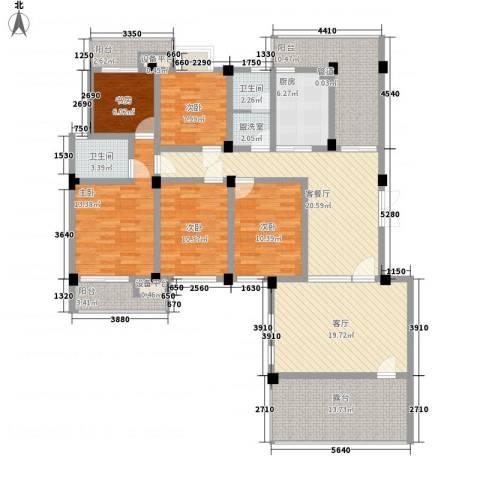 嘉城尚郡5室2厅2卫1厨196.00㎡户型图