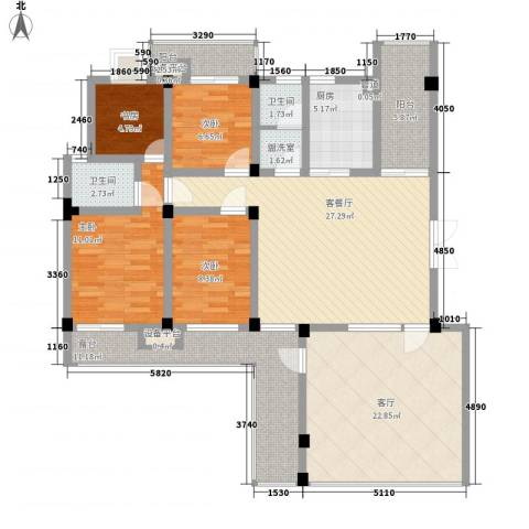 嘉城尚郡4室2厅2卫1厨165.00㎡户型图