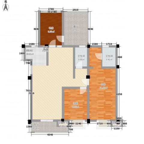 嘉城尚郡3室1厅2卫0厨146.00㎡户型图