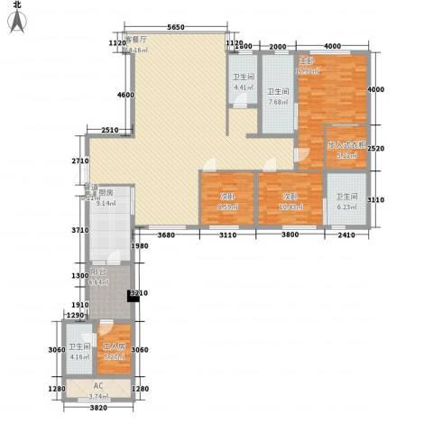 中骏天峰3室1厅4卫1厨153.69㎡户型图