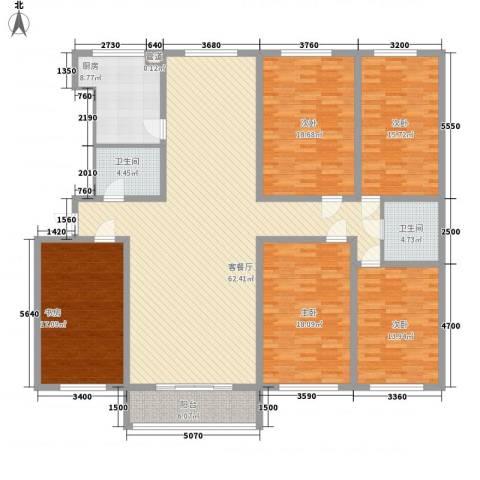 景苑花园5室1厅2卫1厨170.07㎡户型图