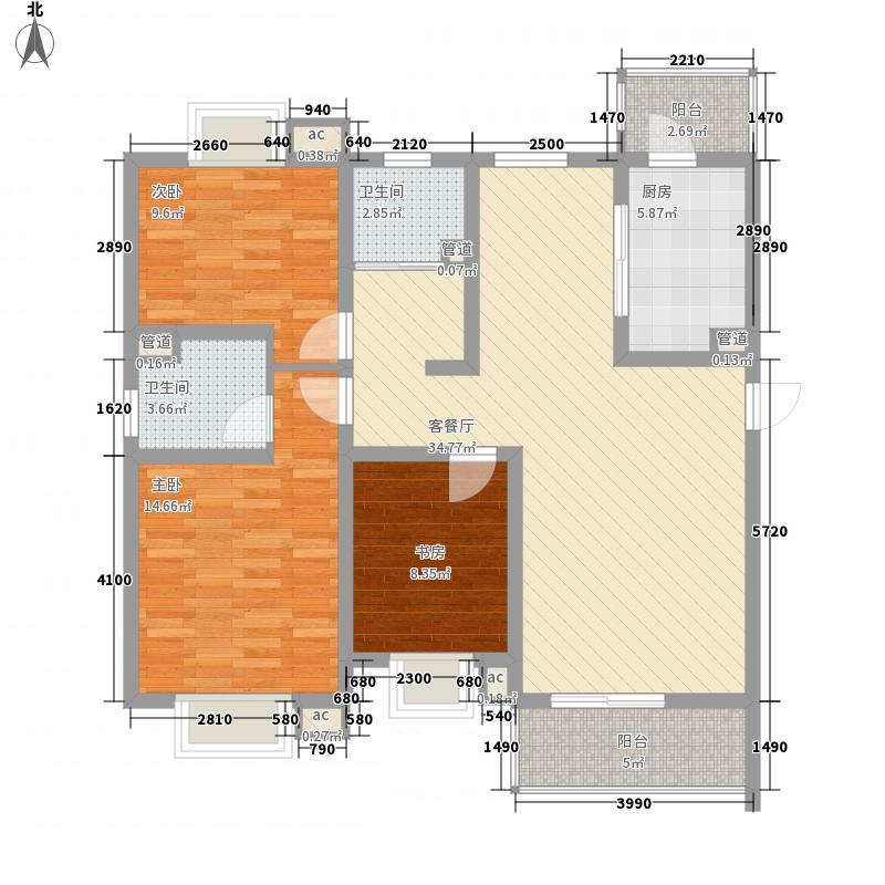 东亚.马赛公馆128.00㎡东亚马赛公馆户型3室2厅2卫1厨