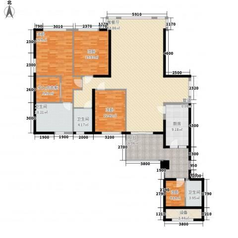 中骏天峰4室1厅3卫1厨168.80㎡户型图