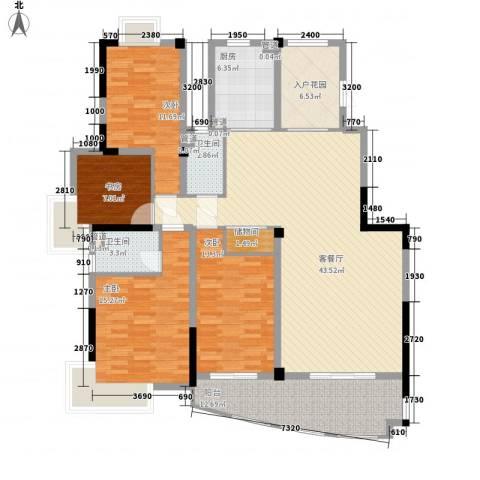 沃得城市中心4室1厅2卫1厨176.00㎡户型图