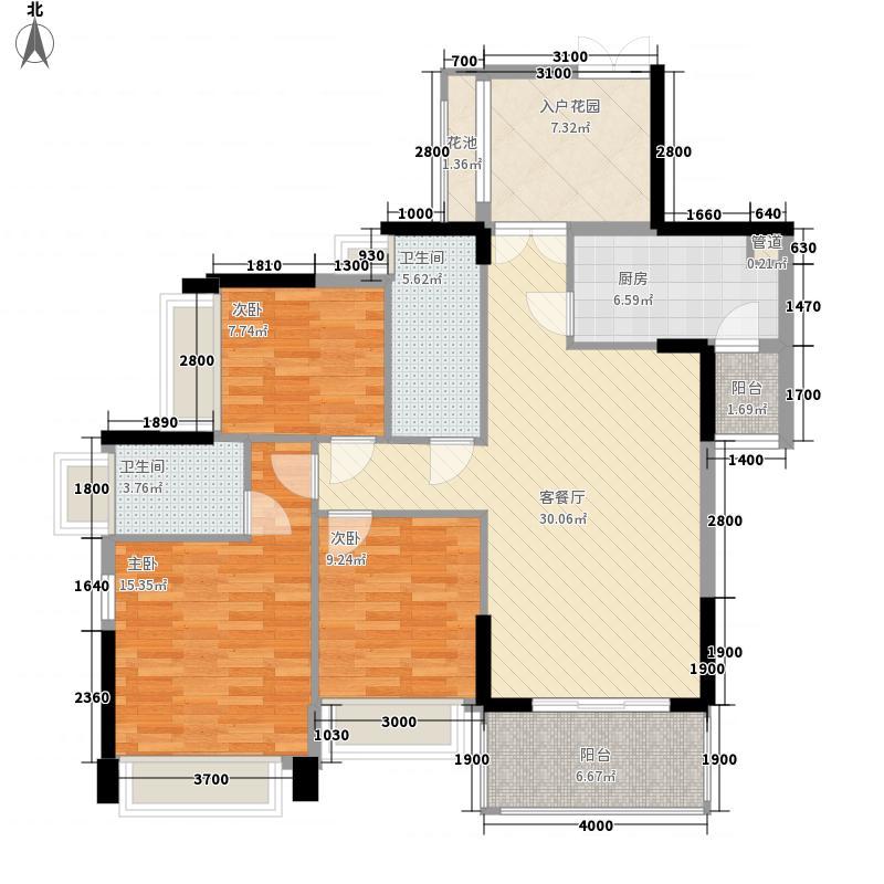 佳兆业中央豪门12.00㎡9栋2-27层01、02户型3室2厅2卫1厨