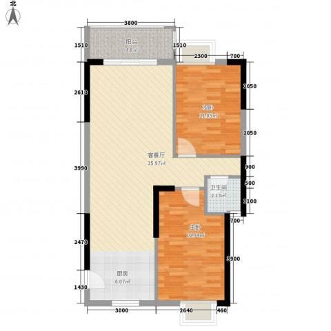 新城国际2室1厅1卫0厨85.00㎡户型图
