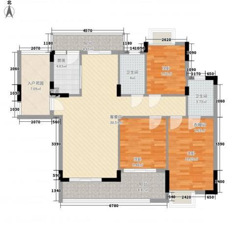 梦云南・雨林澜山3室1厅2卫1厨134.00㎡户型图