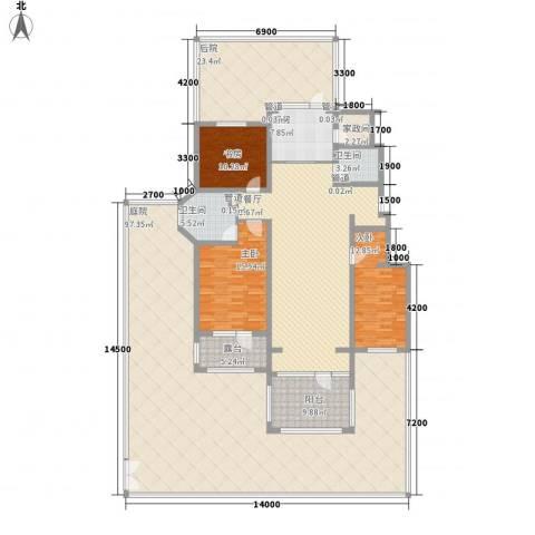 听雨观澜3室1厅2卫1厨237.73㎡户型图