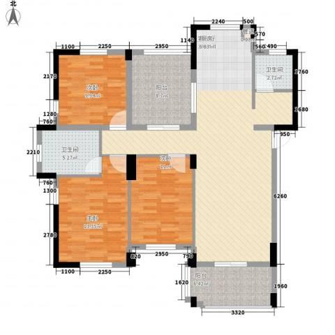 星汇半岛二期3室1厅2卫0厨137.00㎡户型图