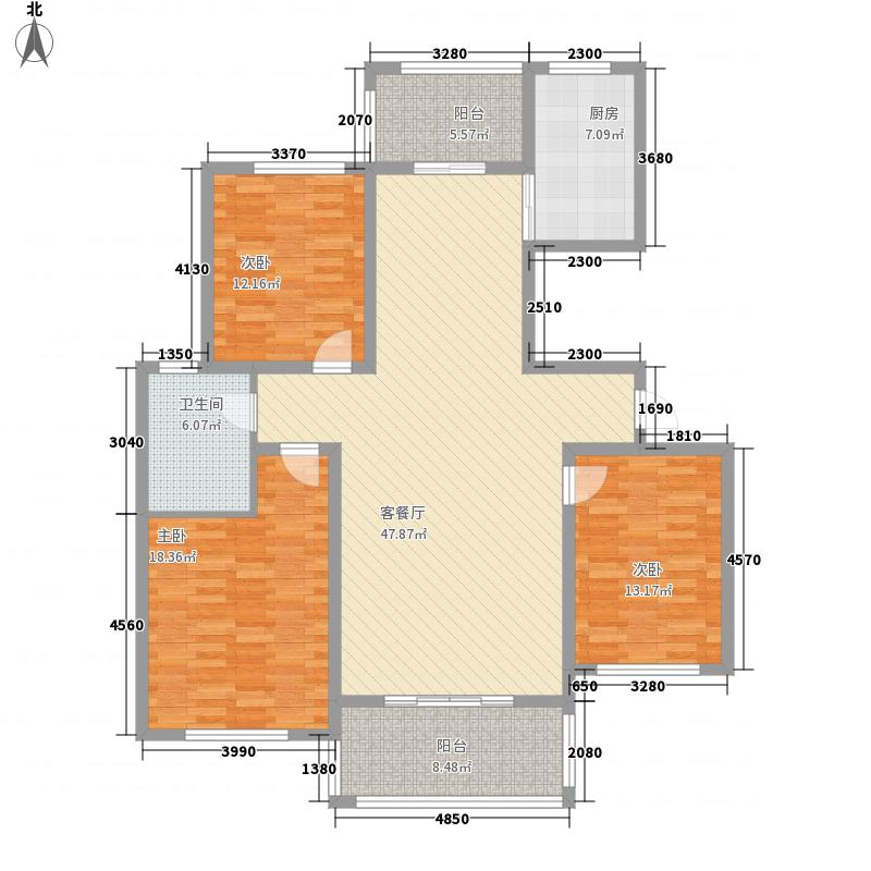 侨康苑168.00㎡侨康苑3室户型3室