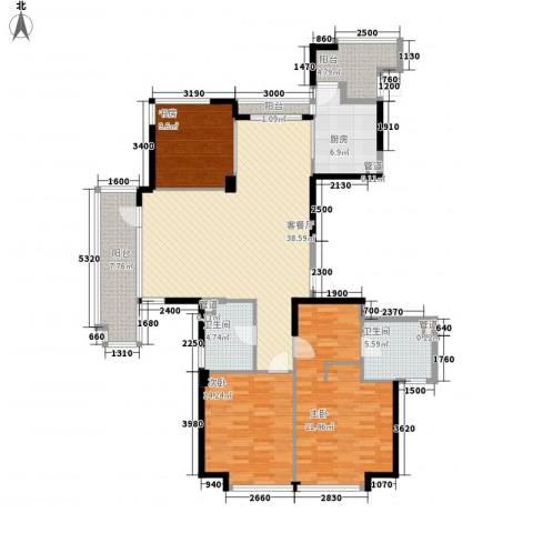 王陵公园宿舍3室1厅2卫1厨162.00㎡户型图