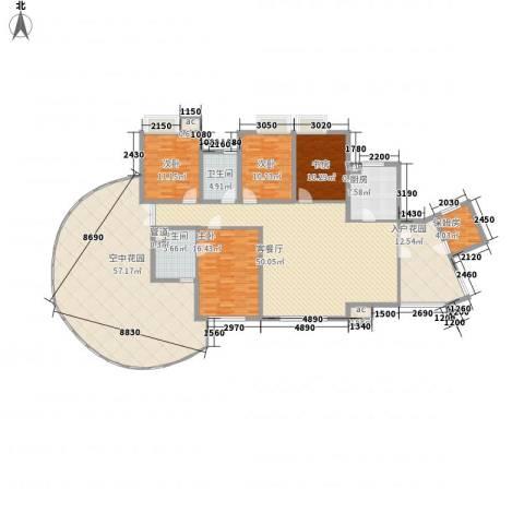 湘江豪庭4室1厅2卫1厨265.00㎡户型图