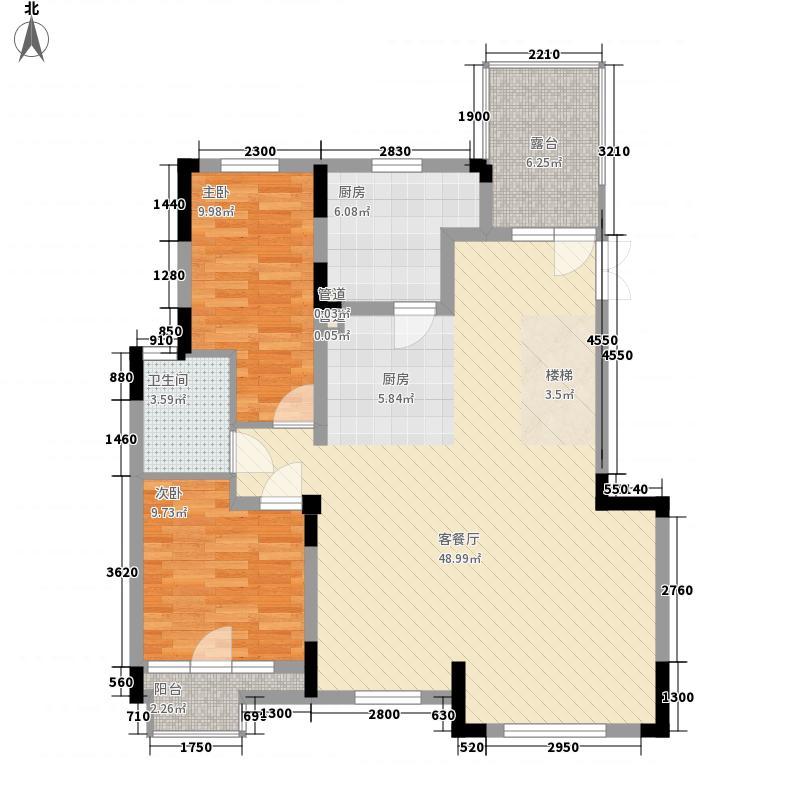 碧桂园公园里123.00㎡AP-4、5F下层户型3室2厅1卫