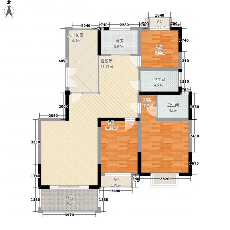 丰菊嘉苑13.00㎡E-2户型3室2厅2卫1厨
