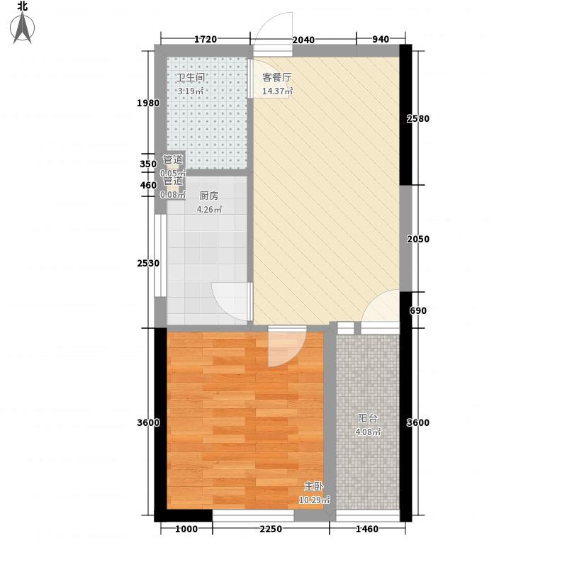 天福广场53.11㎡7#C户型1室1厅1卫1厨