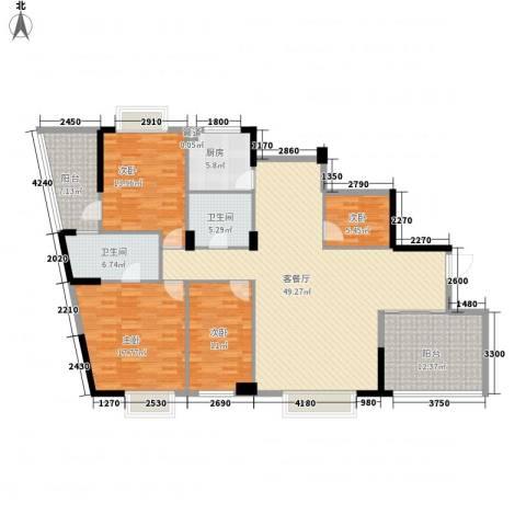 武夷天琴湾4室1厅2卫1厨155.00㎡户型图