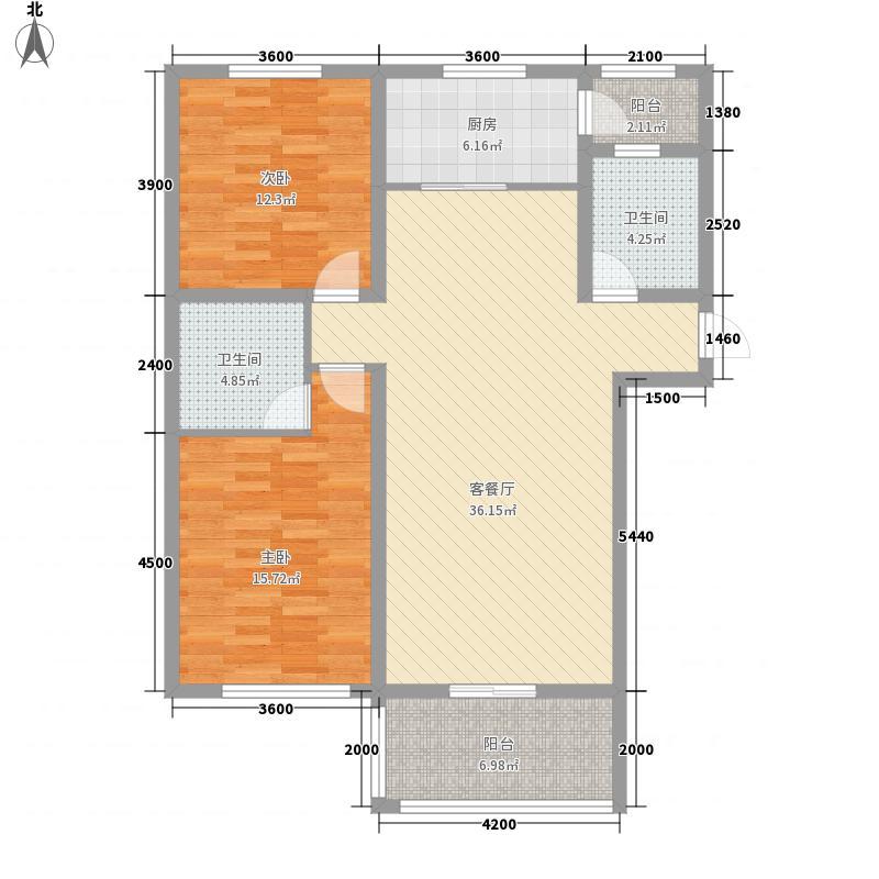 中环滨江花园114.73㎡3户型2室2厅2卫