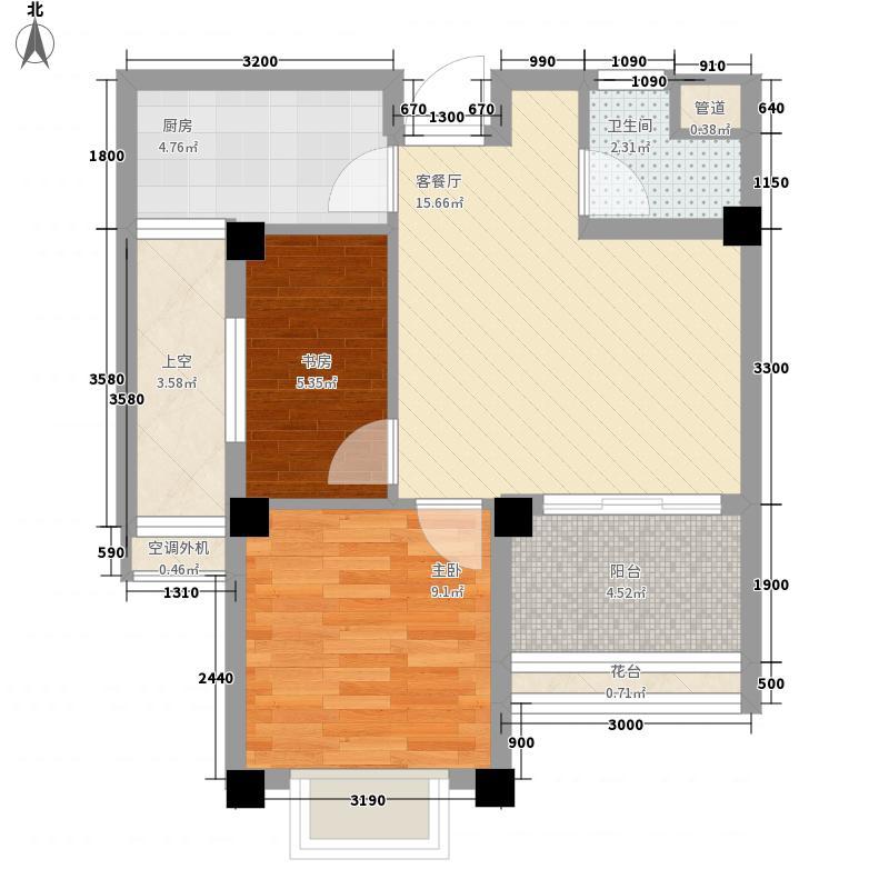 武夷山自�小镇58.00㎡4-5/4-6/4-9号楼A2/B2/C2/D2/E3户型2室2厅1卫1厨