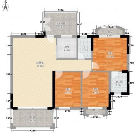 怡翠玫瑰园3室0厅2卫1厨126.00㎡户型图