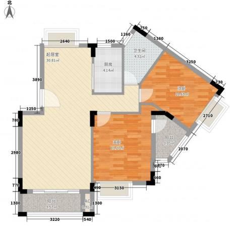 广东街2室0厅1卫1厨85.00㎡户型图