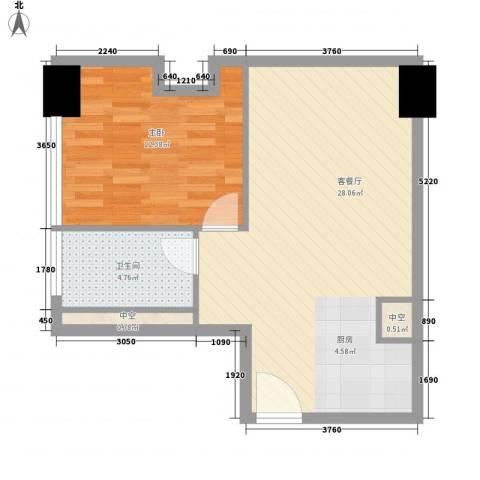 方恒国际中心1室1厅1卫0厨66.00㎡户型图