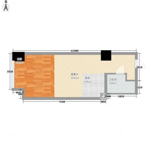 方恒偶寓1厅1卫0厨63.00㎡户型图