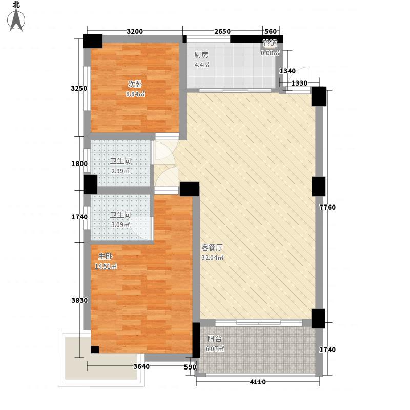 华欣公寓93.07㎡M面积9307m户型