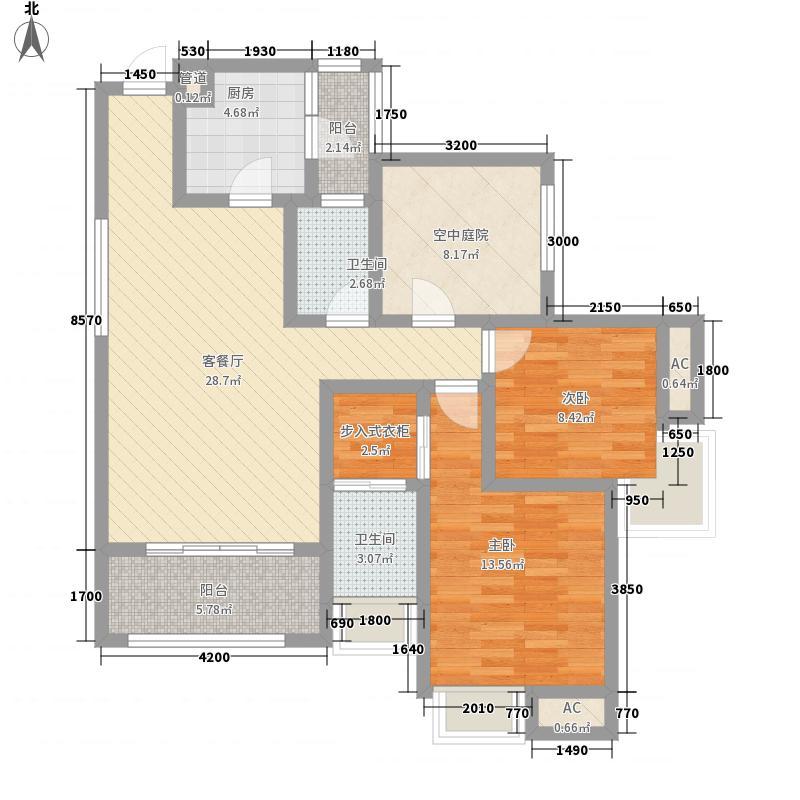 光瑞江都华宸102.92㎡光瑞江都华宸高层C4户型2室2厅2卫1厨102.92㎡户型2室2厅2卫1厨