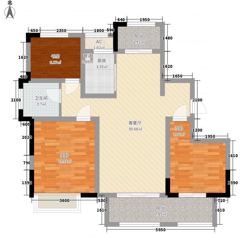 绿地中央广场120.00㎡6#楼C2户型