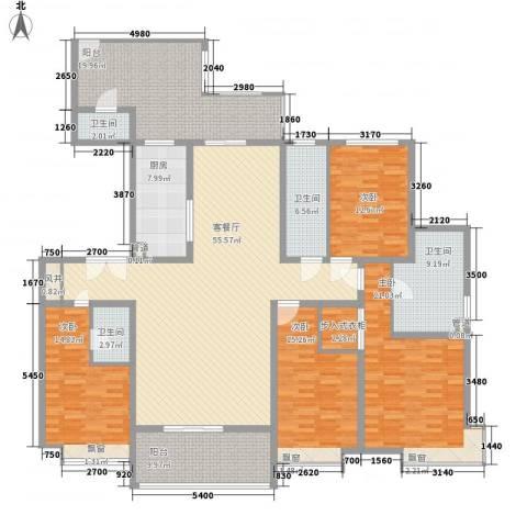 龙湖公馆4室1厅4卫1厨266.00㎡户型图