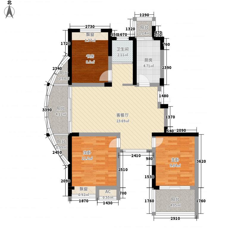 东方威尼斯106.00㎡东方威尼斯户型图F户型3室2厅1卫1厨户型3室2厅1卫1厨