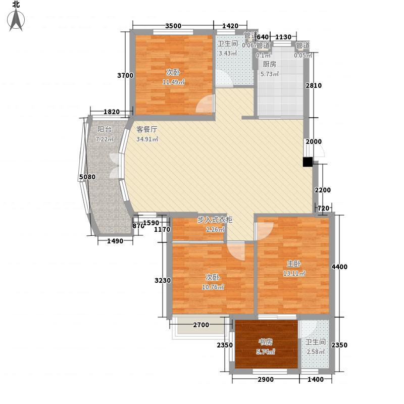 托乐嘉城市广场115.45㎡贵邻居组团E01、02#楼标准层A2户型4室2厅2卫1厨