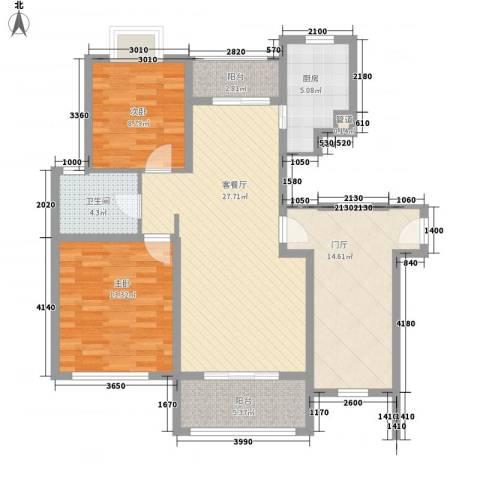 威尼斯水城别墅2室1厅1卫1厨118.00㎡户型图