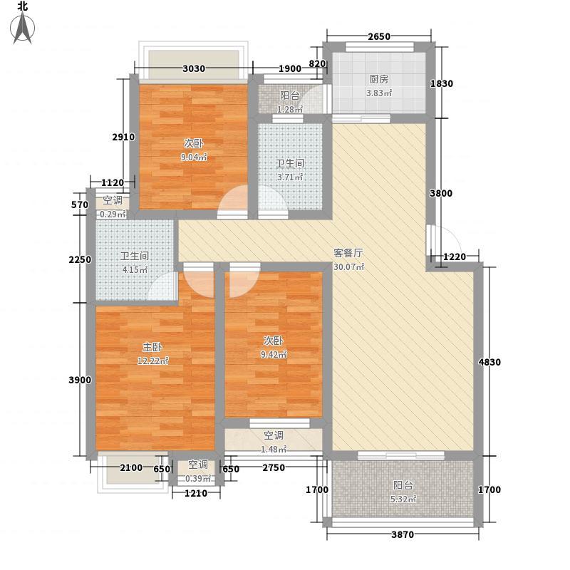 翰林城120.00㎡翰林城户型图C户型3室2厅2卫1厨户型3室2厅2卫1厨