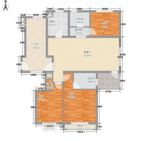 威尼斯水城别墅3室1厅2卫1厨161.00㎡户型图