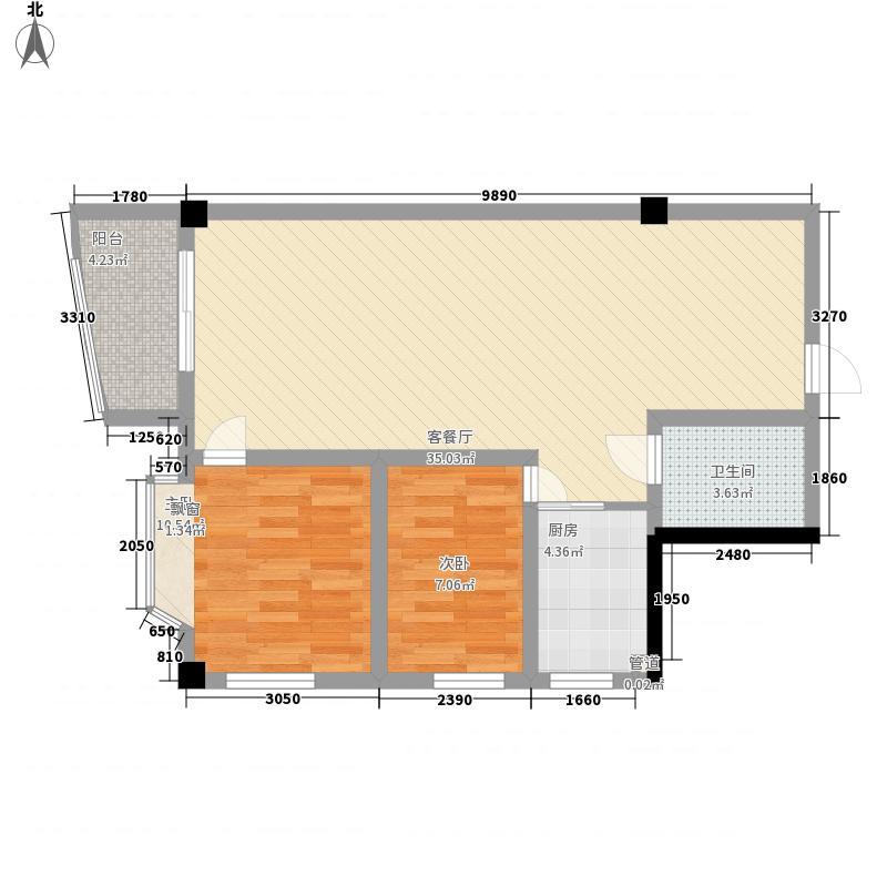 龙湾广场92.20㎡龙湾广场两室户型10室