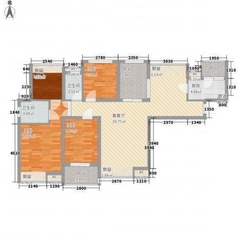 中海观园4室1厅2卫1厨141.00㎡户型图