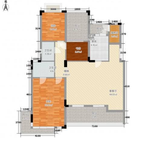 中惠沁林山庄二期3室1厅2卫1厨179.00㎡户型图