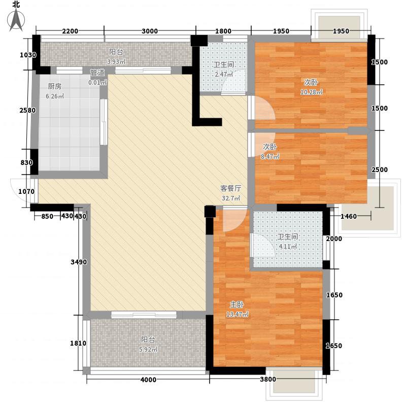 南艳瑞景170.00㎡南艳瑞景4室户型4室