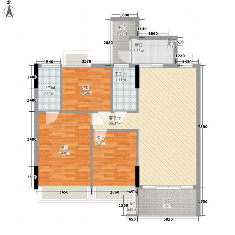 顺欣广场116.26㎡2、6栋4-7层33面积11626m户型