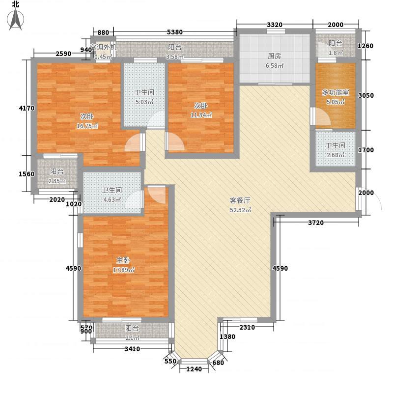珠江罗马嘉园二期173.71㎡户型3室2厅3卫1厨