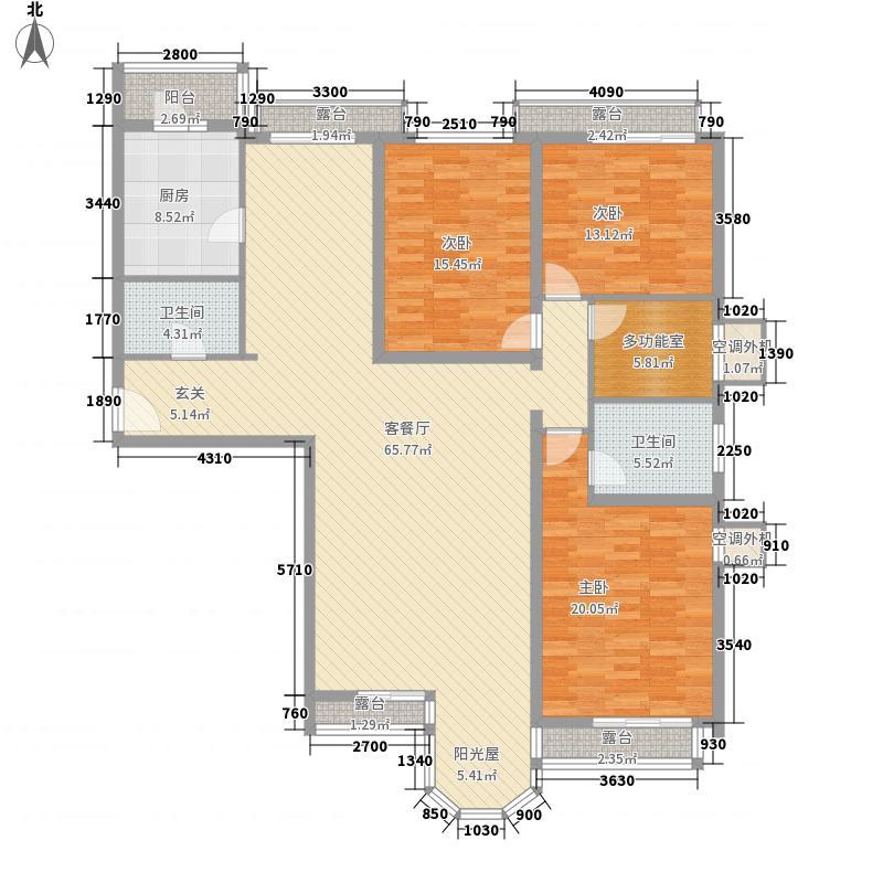 珠江罗马嘉园二期174.87㎡户型3室2厅2卫1厨