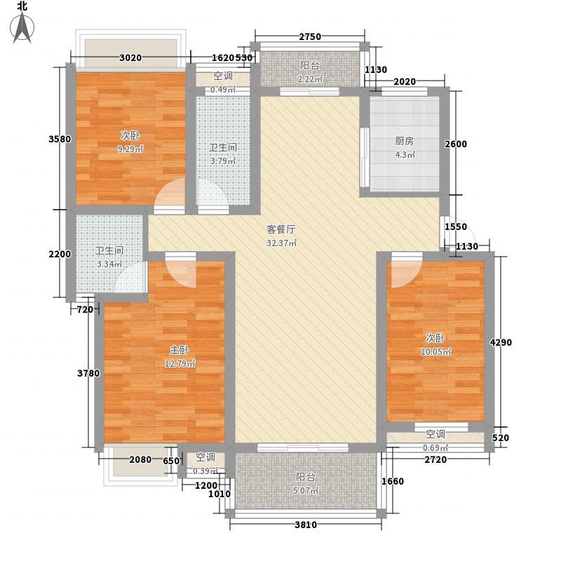 翰林城125.00㎡翰林城户型图A户型3室2厅2卫1厨户型3室2厅2卫1厨