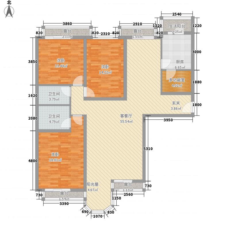 珠江罗马嘉园二期175.05㎡户型3室2厅2卫1厨